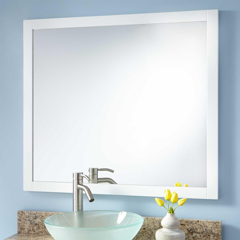 Everett Vanity Mirror White Vanities Kid bathrooms and Bathroom