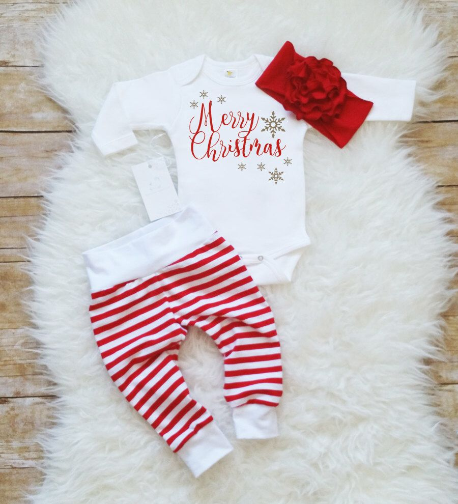merry christmas baby girl outfit christmas bodysuit baby christmas set baby girl clothes newborn christmas outfit