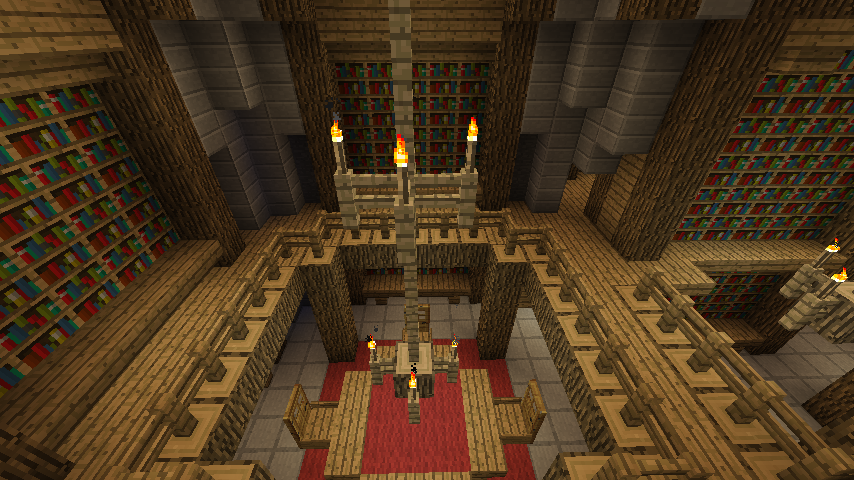 Library In The Castle Minecraft By Nosh0r On Deviantart Minecraft Minecraft House Designs Minecraft Medieval