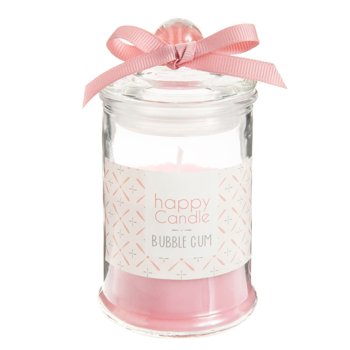 Bougie bonbonnière parfumée bubble gum corail H 11 cm VINTAGE ...