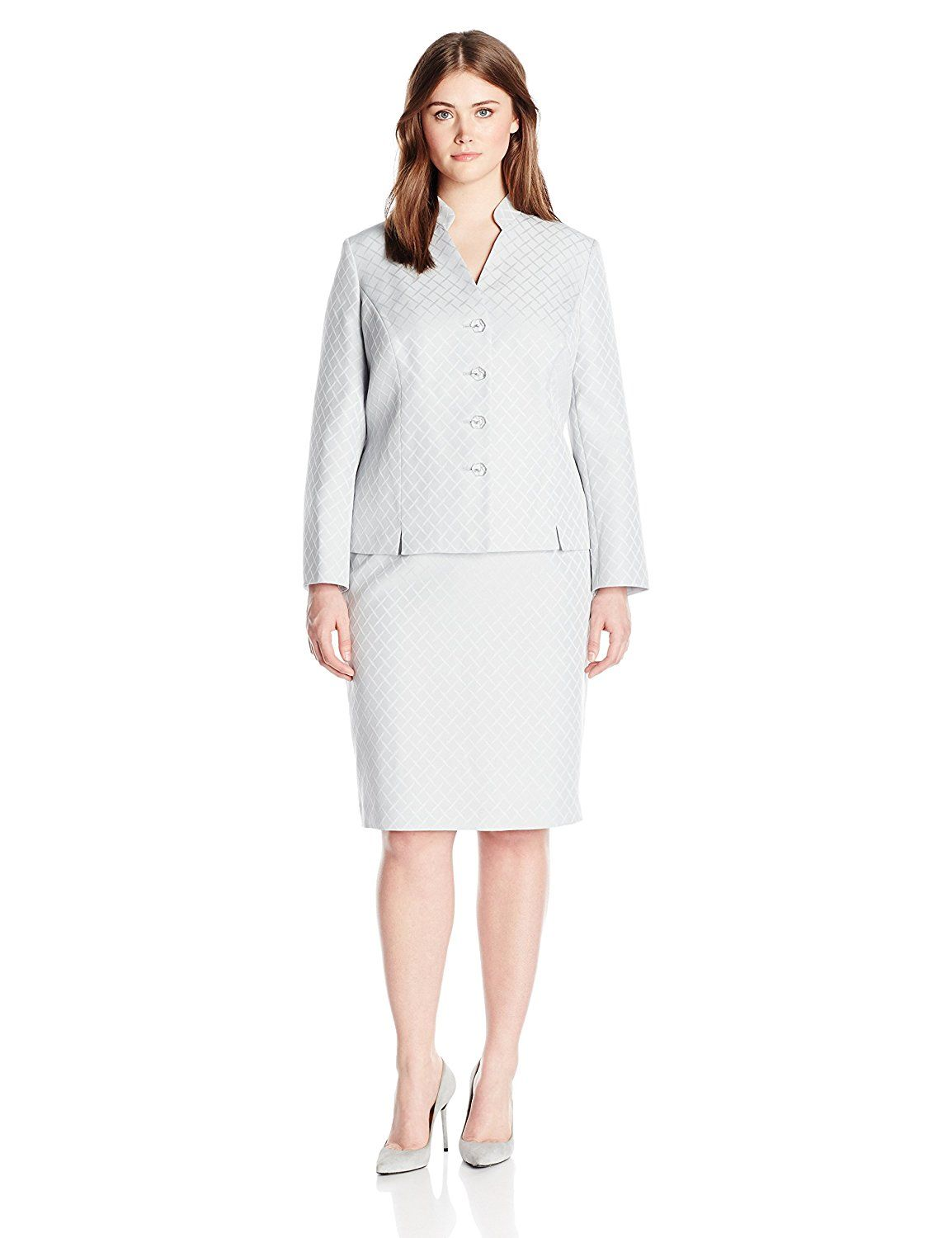 8fff84e91a18f Le Suit Women s Plus-Size 3 Button Shimmer Skirt Suit    You can find more  details by visiting the image link.