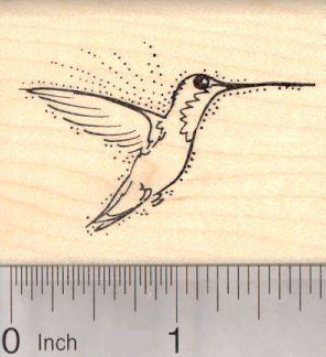 Ruby Throated Hummingbird Rubber Stamp Bird >>> To view further for this item, visit the image link.