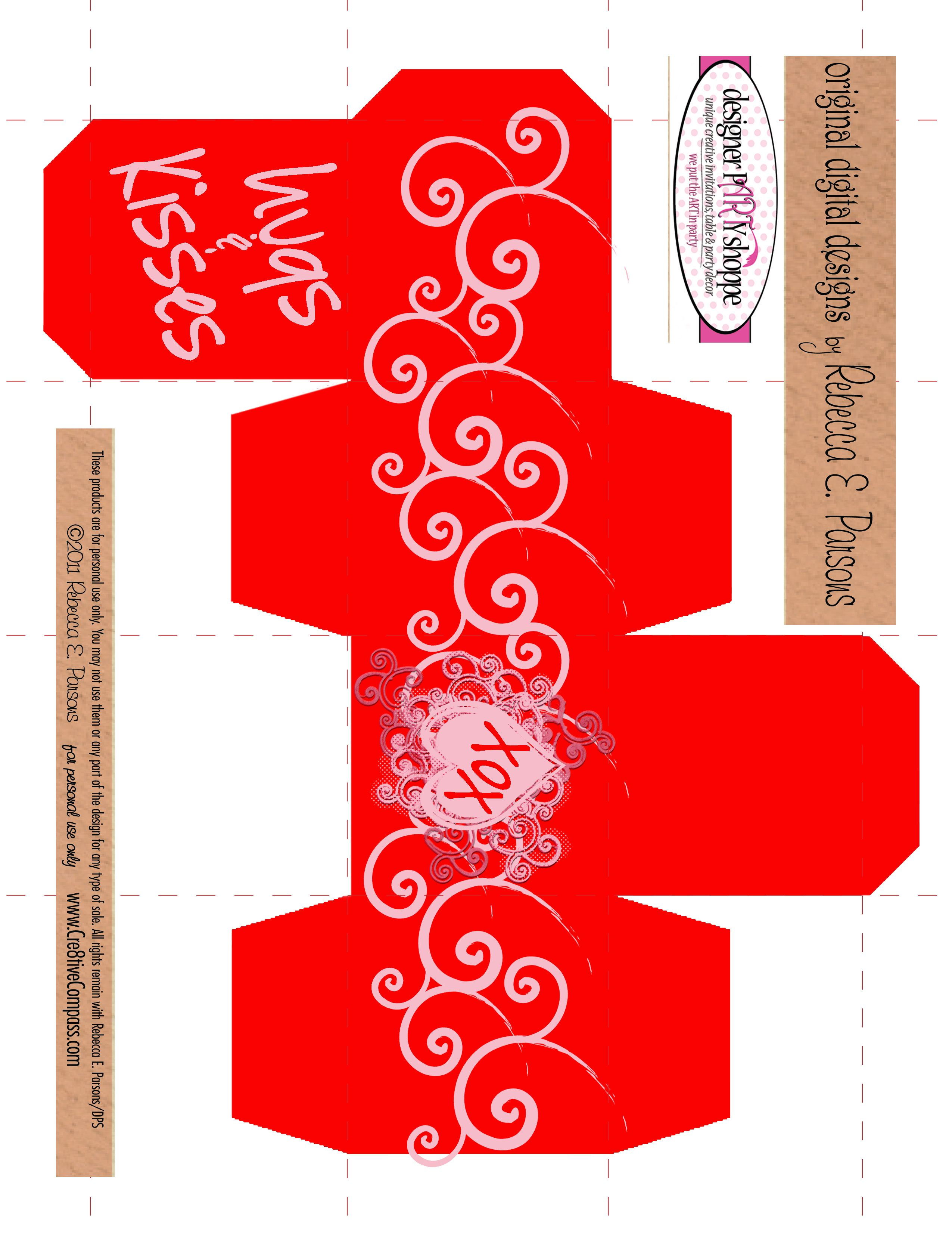 valentines box template Oylekalakaarico