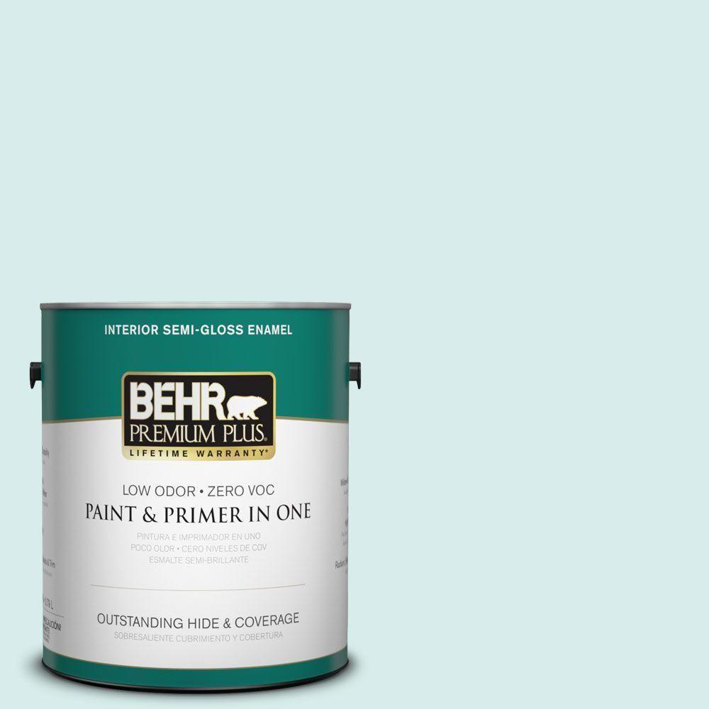 BEHR Premium Plus 1-gal. #M450-1 Dew Pointe Semi-Gloss Enamel Interior Paint