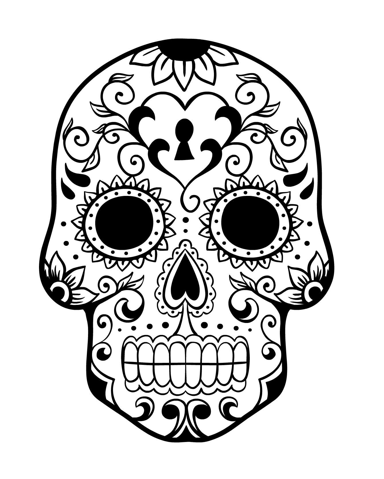 Day of the Dead Sugar Skull Coloring Page 4 | SugarSkull Obsession ...