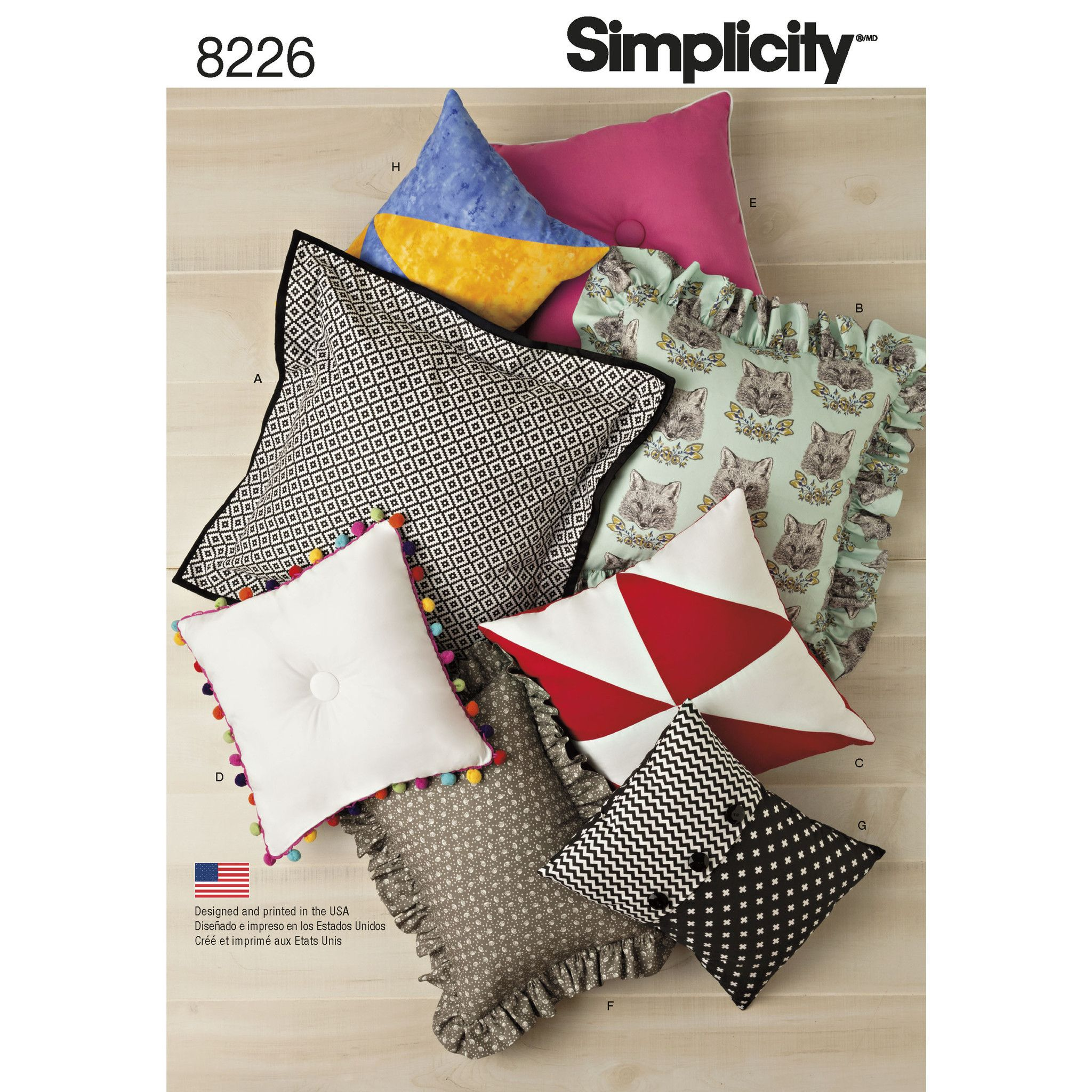 Simplicity s8226 easy pillows sewing patterns pinterest update your interiors or sew a cute gift with this easy to sew pillow pattern pattern gives you fabric trim and shape options on these pillows sized x x x jeuxipadfo Image collections