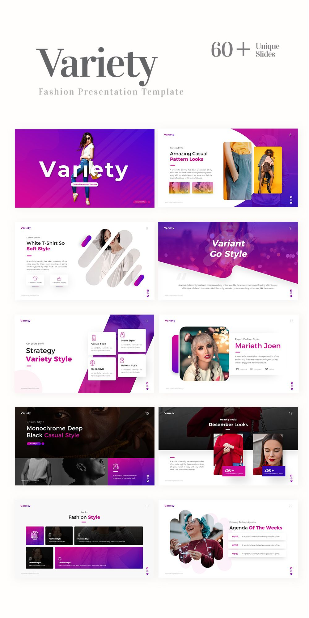 Pin On Fashion Design Powerpoint Templates And Pitch Deck