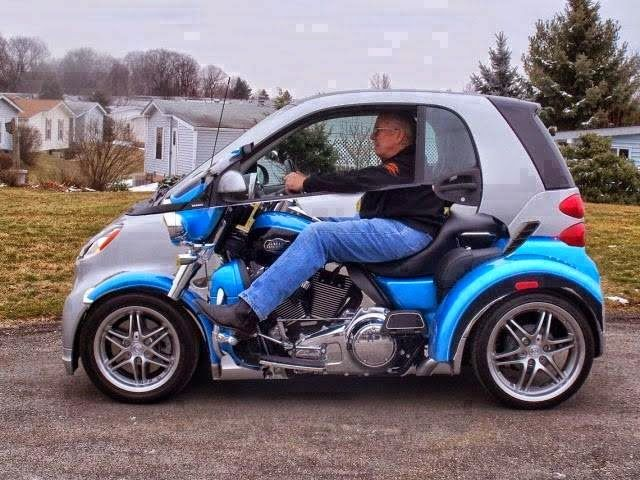 Cool car painting | innovative Car painting appears like a bike ...