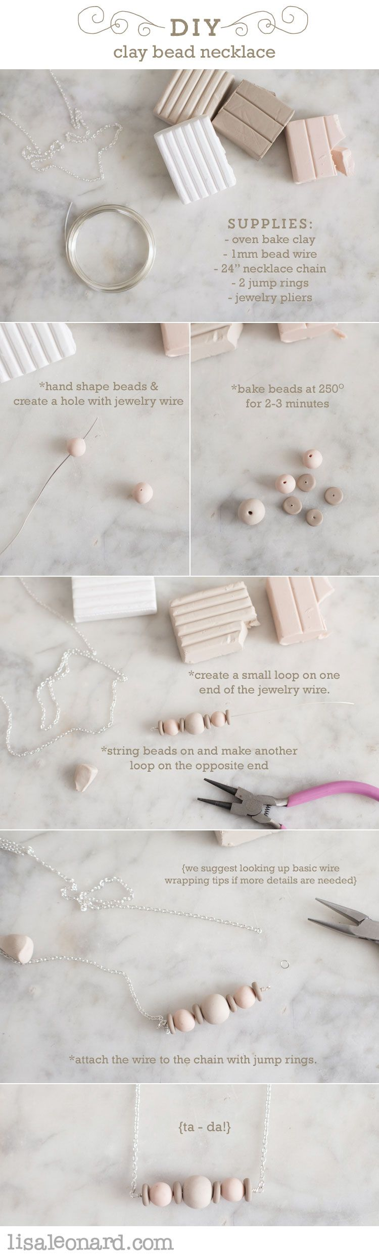This project is fun and so easy! There are many colors of oven bake clay available at Michael's or your local craft store. Get the kids involved, too! Need help with wire wrapping? Here's a good visual tutorial. Have fun!…