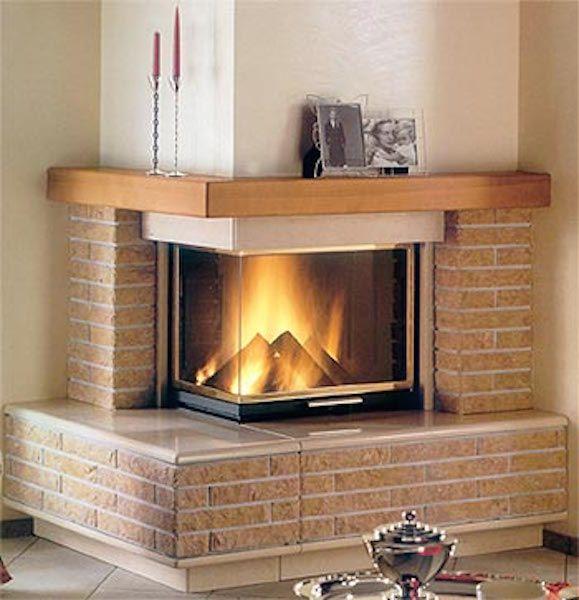 Arezzog Brick Modern Fireplace