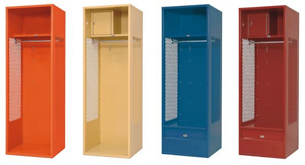 Sports lockers - perfect for the garage to store work jackets, dirty ...