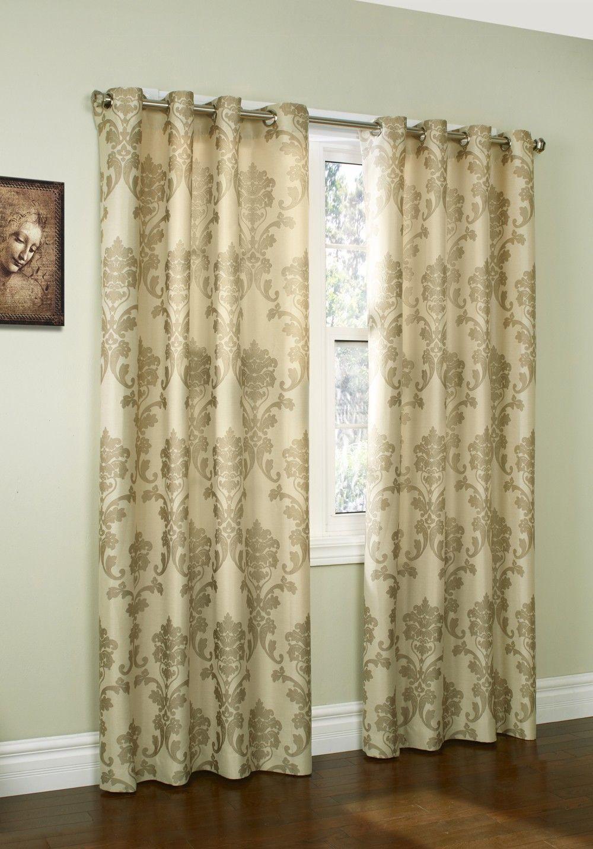 Curtain Bath Outlet Loire Jacquard Grommet Curtain Curtains Living Room Drapes Curtains Window Treatments