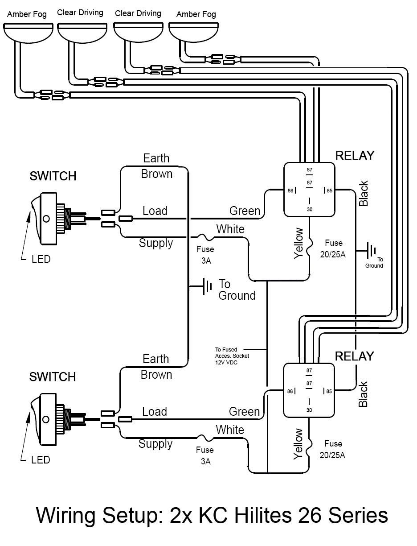 55 Elegant Kc Light Wiring Diagram In 2020