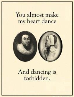 Even Puritans almost get it...