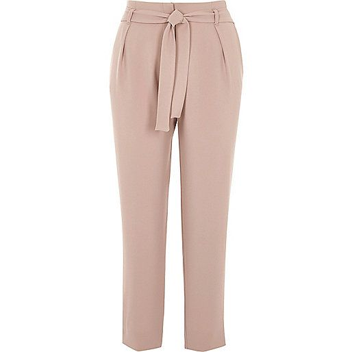 River Island Satin Tapered Trouser Nude Women Trousersriver island coats pinksuper quality