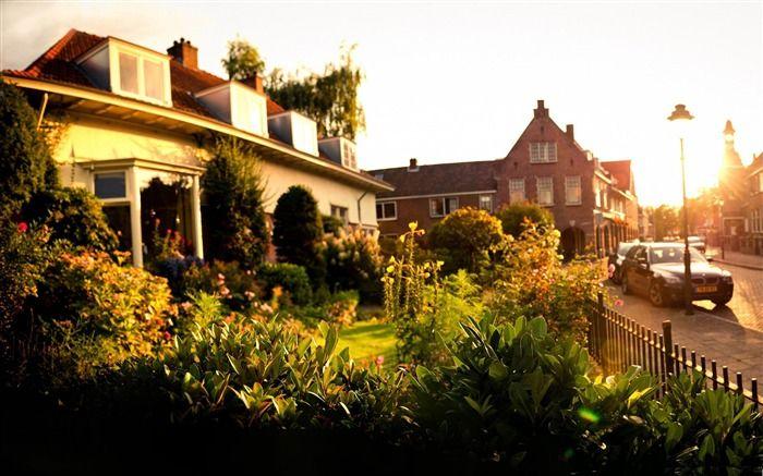 Netherlands Landscape | sunset in tuindorp hengelo-Netherlands Landscape Wallpaper