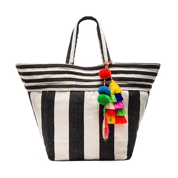 JADEtribe Valerie Multi Tassel Wide Tote ($155) ❤ liked on Polyvore featuring bags, handbags, tote bags, fringe handbags, pocket tote, tote hand bags, tote handbags and purse tote