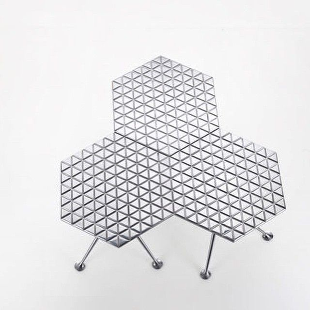 Hexagonal Table by Alexander Girard for Herman Miller, 1967.