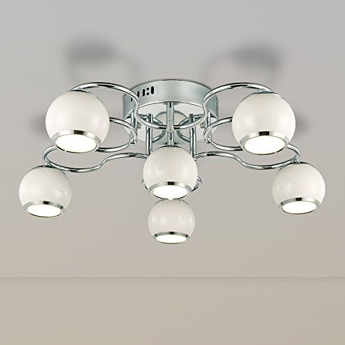 NATSEN LED Ceiling Lights 6Light Modern Ceiling Light Fixture ...