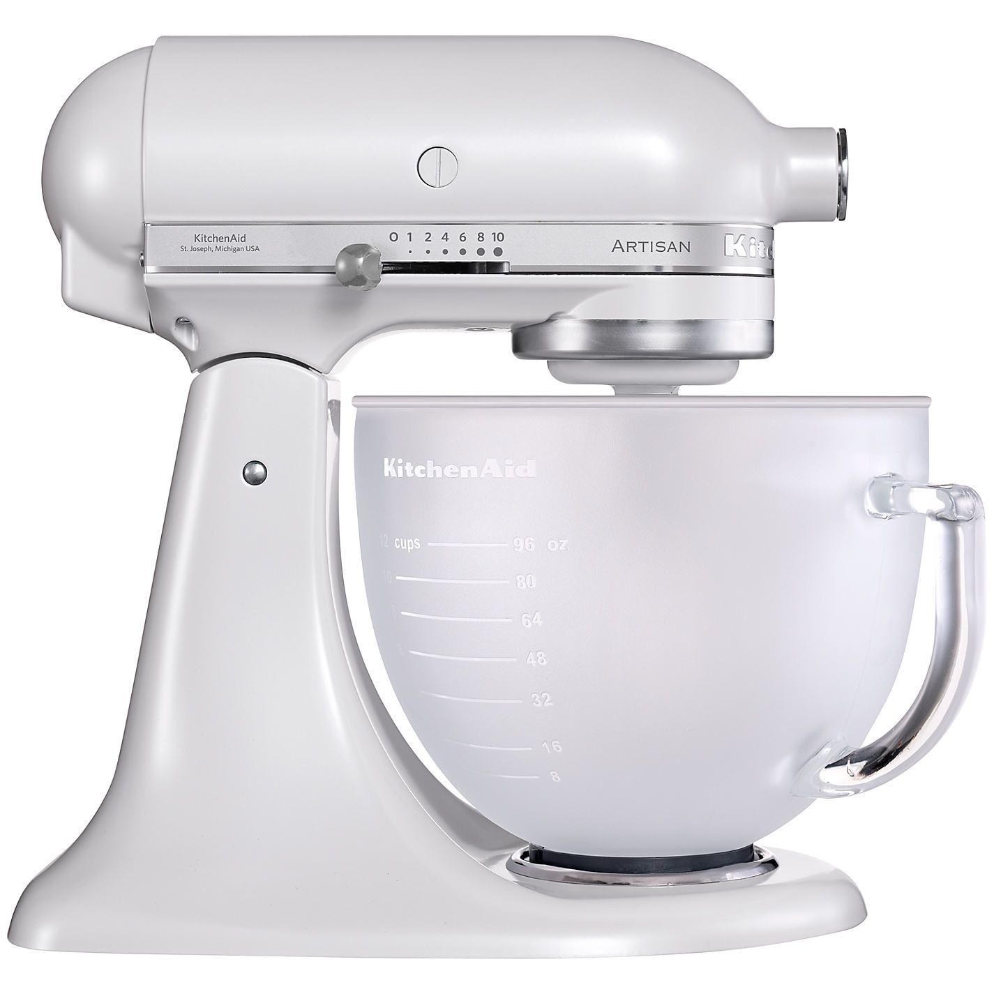 Aid Artisan Stand Mixer, Frosted Pearl | John Lewis | For the Home on