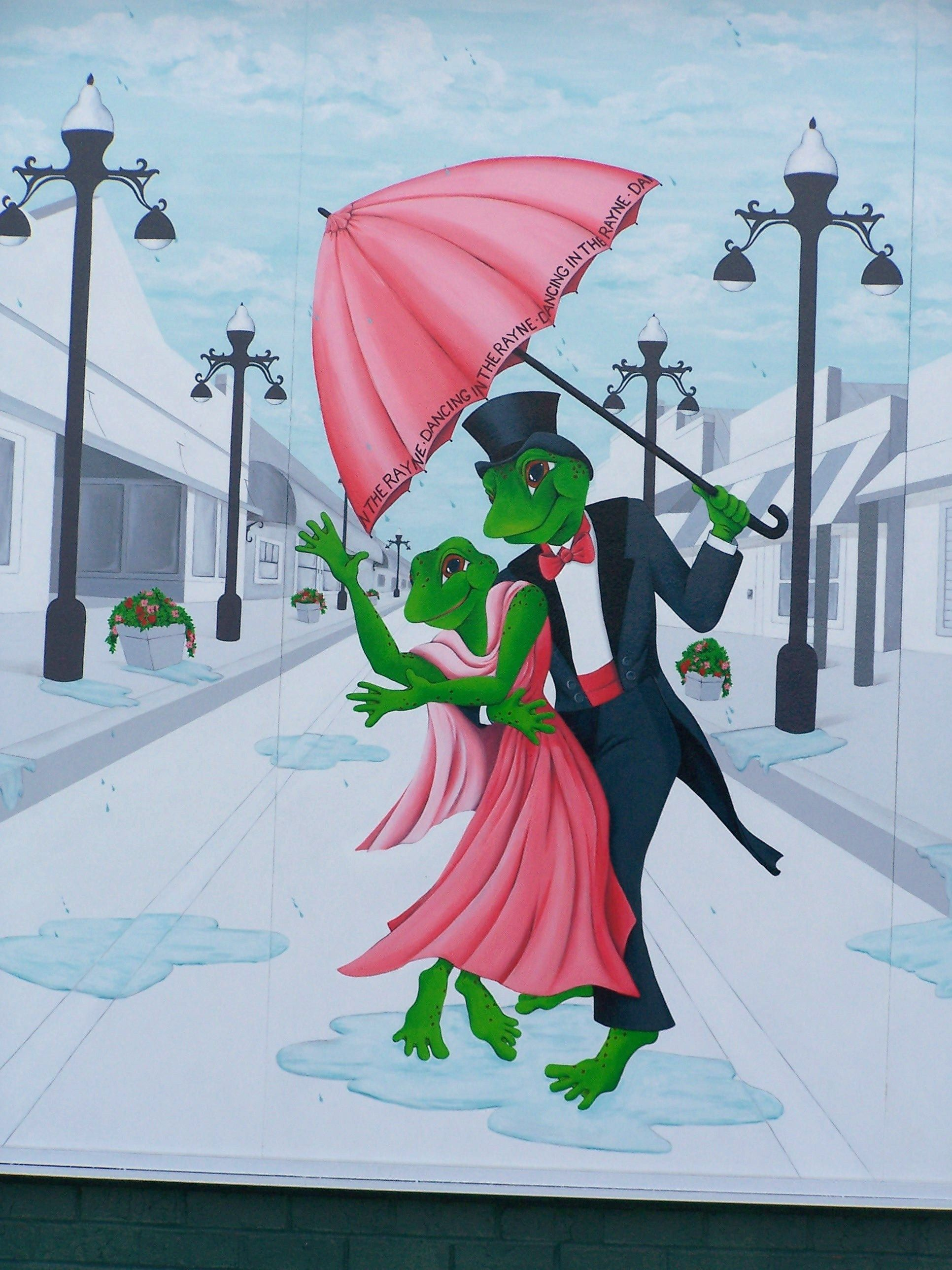 Rayne, LA - Home of the Frogs.  Love all of the frog murals and statues.