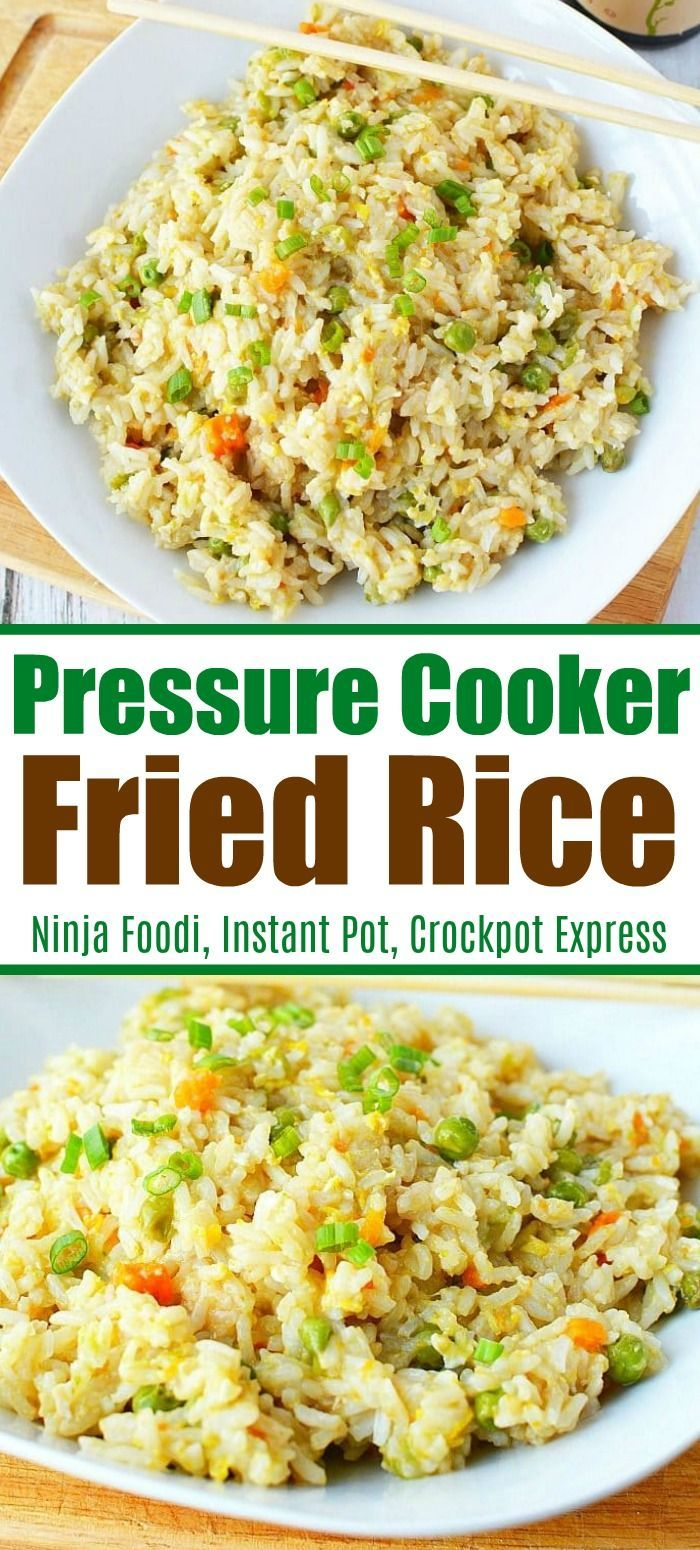 Pressure cooker fried rice is packed with vegetables and lots of flavor! Whether you serve it as a side dish or a main entree for dinner it is a great recipe my whole family enjoys. #pressurecooker #friedrice #instantpot       Rice is one of the main nutrients consumed all over the world and is consumed more, especially since it is produced more in coastal areas. Since consuming excessive rice, which is nutritious when consumed i... #Cooker #Foodi #Fried #Instant #Ninja #Pot #Pressure #Rice