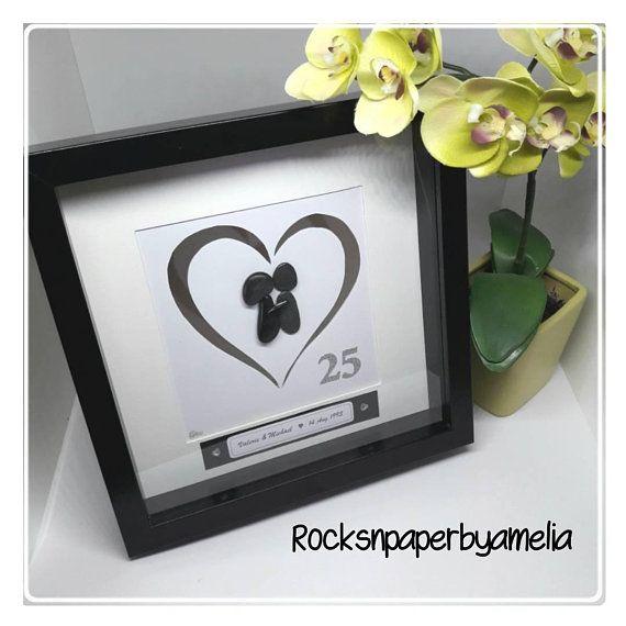 #25yearsmarried #silveranniversary #rocksnpaperbyamelia