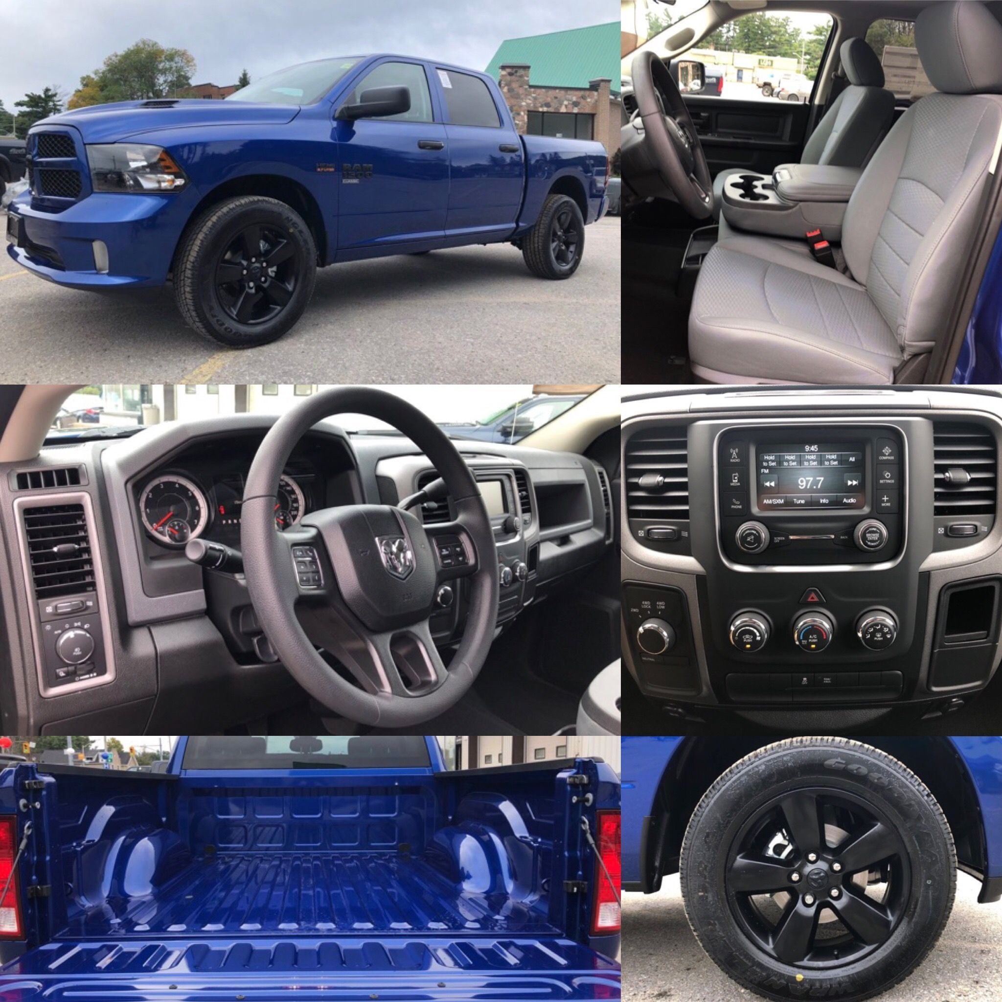 2019 Blue Streak Ram 1500 Classic Express Blackout 4x4 Sport Hood Bluetooth Backup Cam Hemi Crew Cab Remote Entr Ram 1500 Dodge Trucks Ram Dodge Trucks
