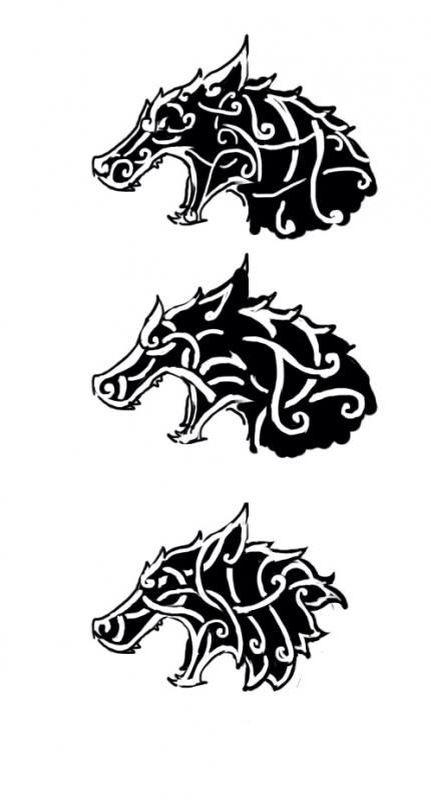 Viking Wolf Tattoo Design Viking Tattoo Design Celtic Tattoo