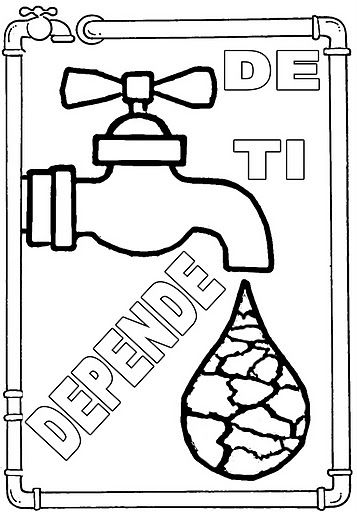 Agua De Ti Depende Dibujalia Dibujos Para Colorear Eventos Especiales Dia Medio Ambiente Agu Agua Para Colorear Cuidado Del Agua Dia Mundial Del Agua