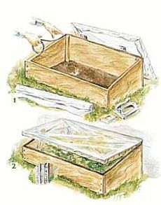Cold frames are a great way to get a start on the spring planting