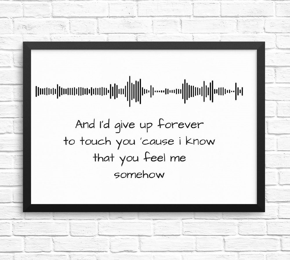 Goo Dolls Iris Soundwave Lyric Art A4 Print Can Be Made For Any Artist Song