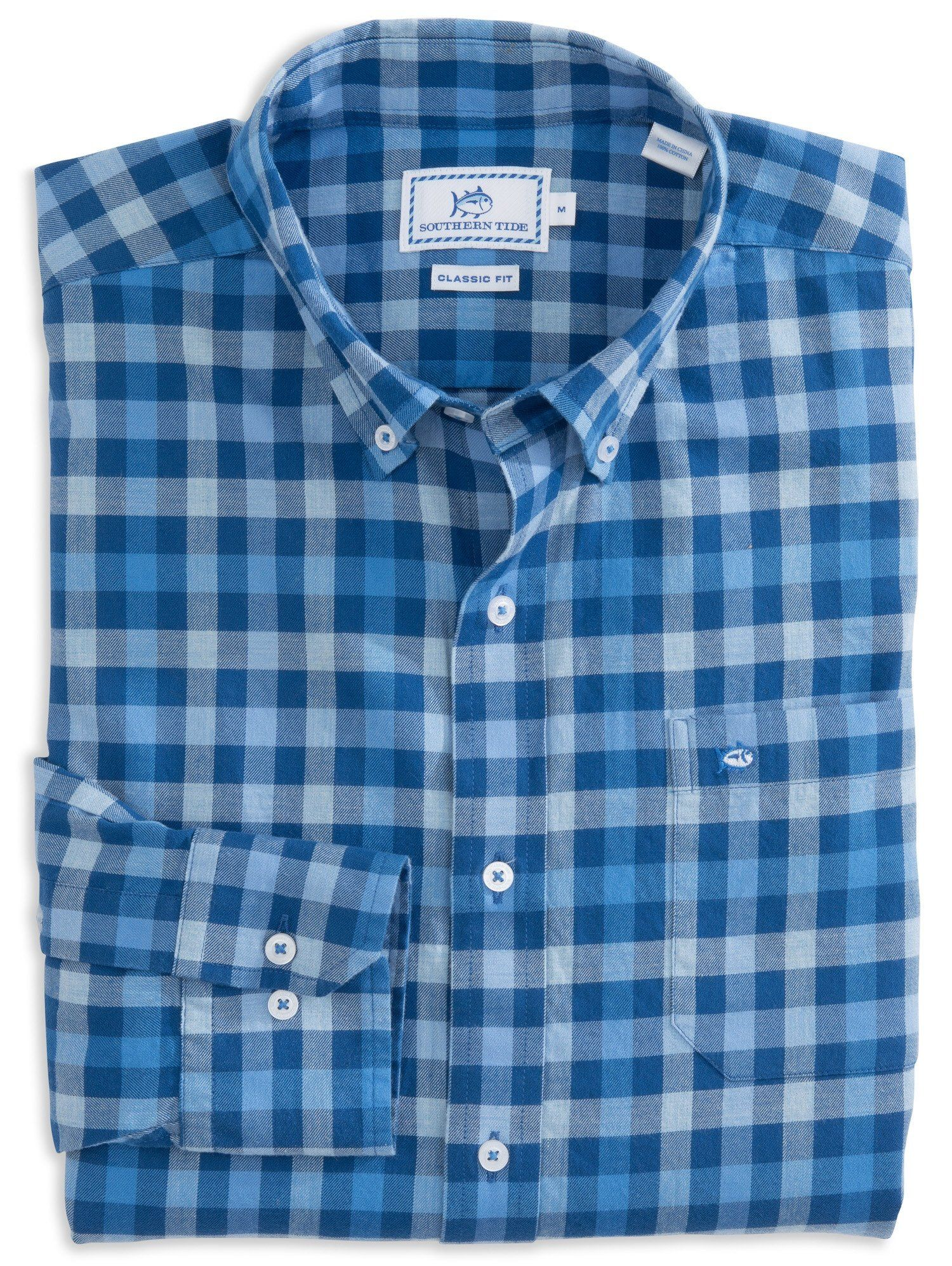Green checkered dress shirt  Southern Tide Checkered Flannel Sport Shirt  Products  Pinterest