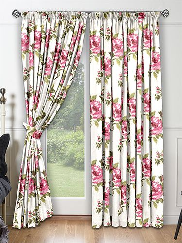 Bloomingdale Pink Rose Curtains From Curtains 2go Baby Rose