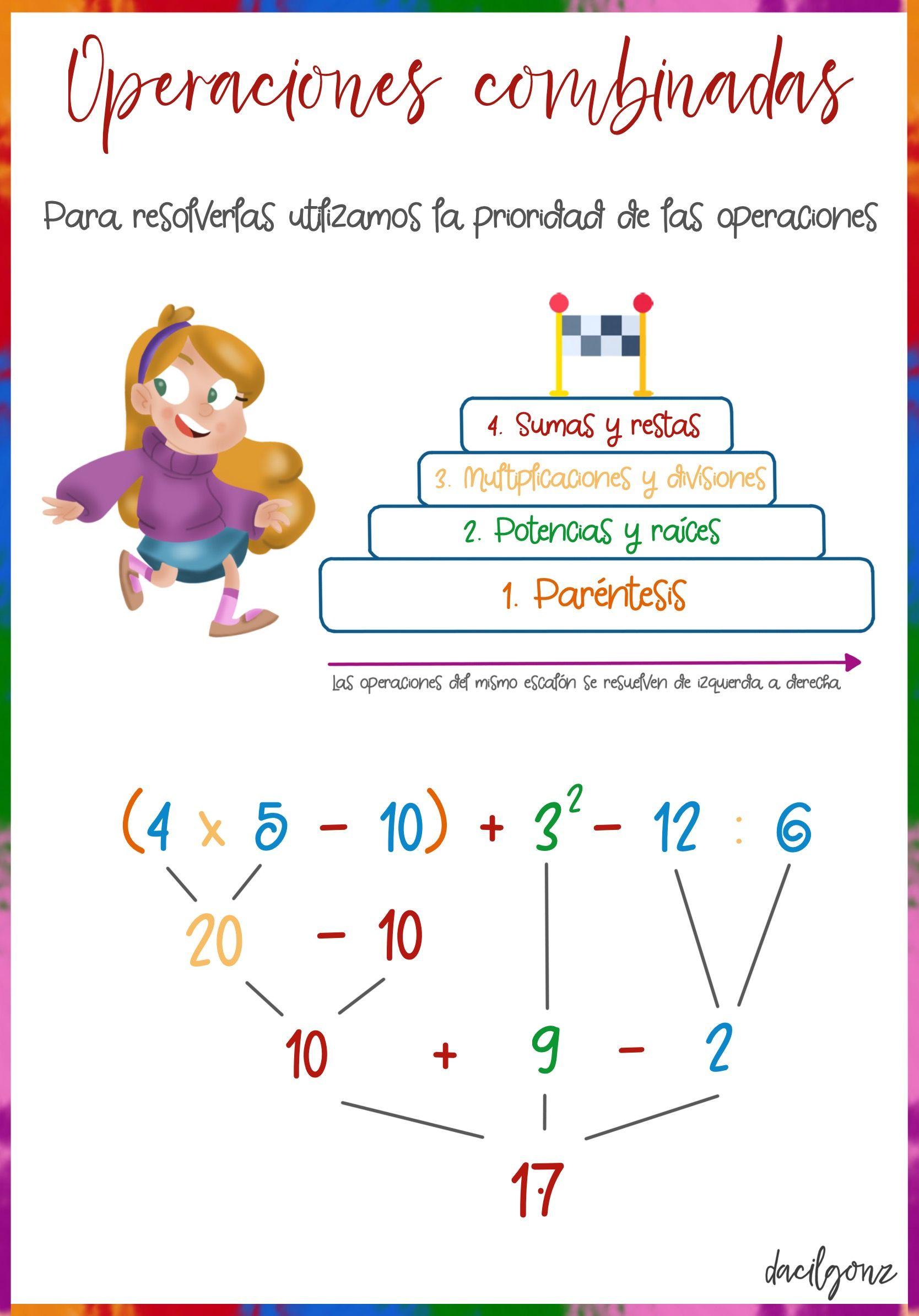 Operaciones Combinadas Matematicas Interactivas Matematicas Curiosidades Matematicas