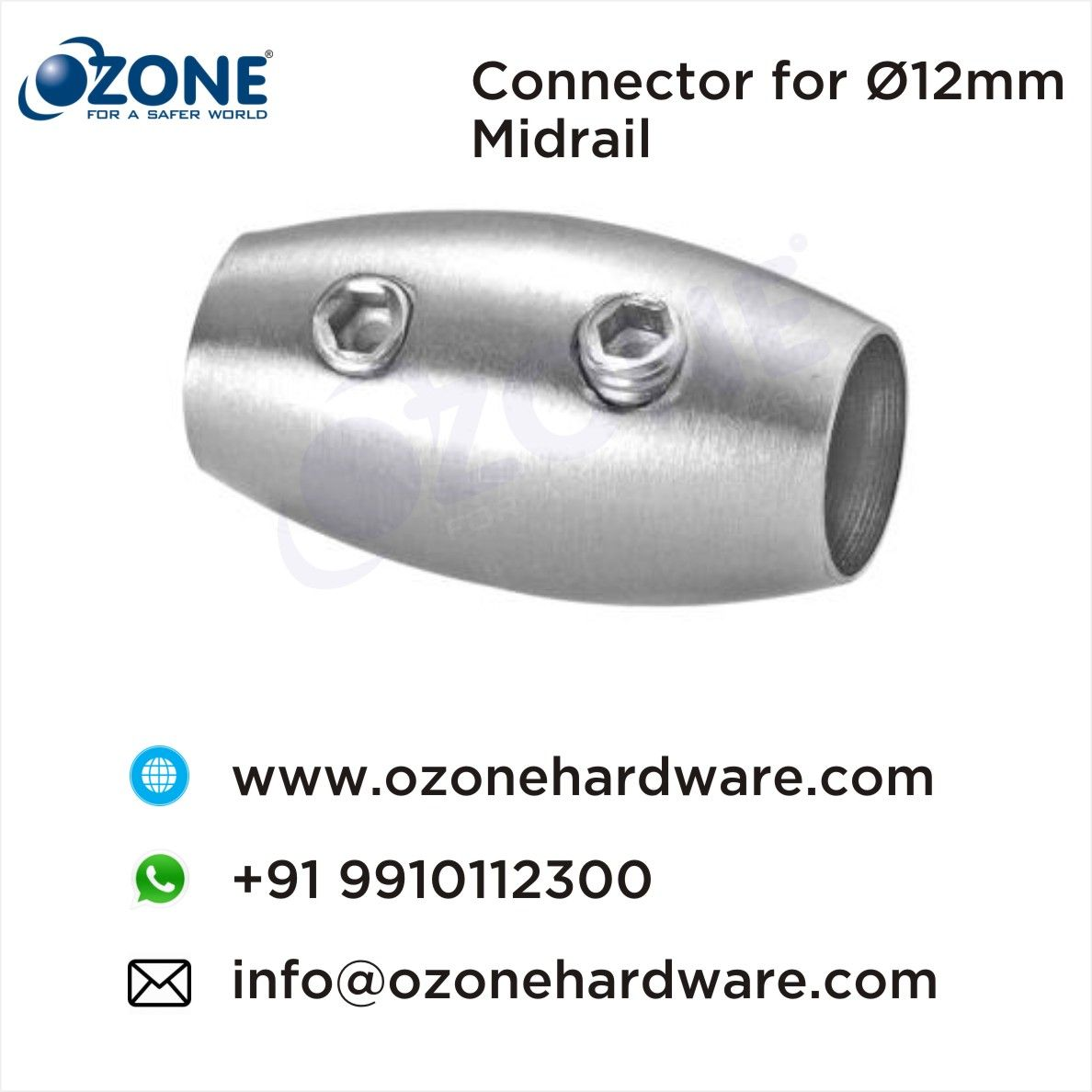Connector For O12mm Midrail Elbows Connectors Railing Accessories Balustrade Hardware Accessories Railing Solution Railing Connector Stainless