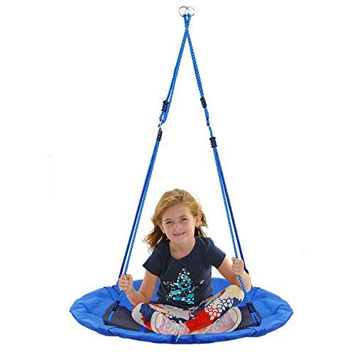Amzdeal Tree Swing Flying Saucer Swing Set Nylon Rope with Padded ...