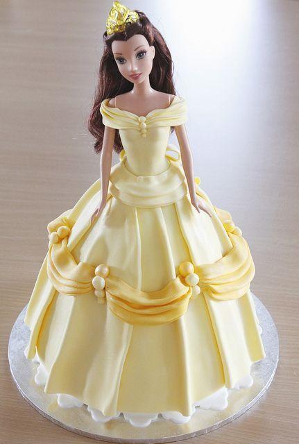Disney Belle Dolly Varden Barbie cake Disney belle Belle and Cake
