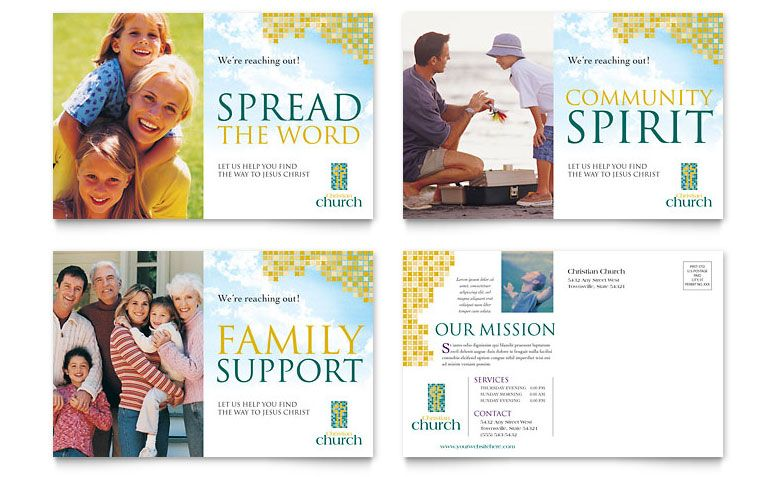Church Postcard Design Ideas - Post Card Ideas Post Card Ideas - postcard format template