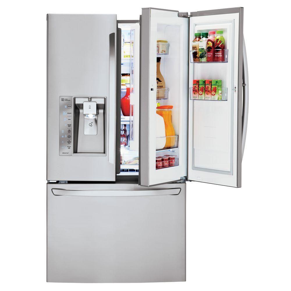LG Electronics 30 cu. ft. French Door Refrigerator with Door-In-Door Design in Stainless Steel = ~ $2,800