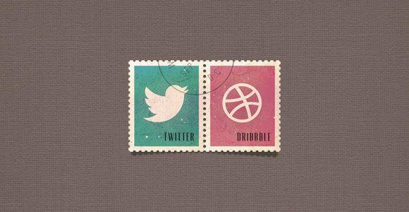 Social Media Postage Stamps Psd Freebiesbug Social Media Icons Social Icons Photoshop Freebies