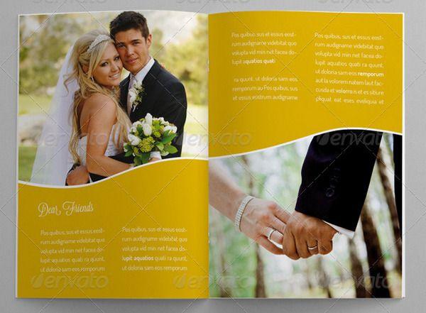 Wedding Brochure Template trifold Pinterest Brochure - wedding brochure template