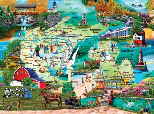 The Great Lakes - 1000pc Jigsaw Puzzle by SunsOut (discon) - SeriousPuzzles.com
