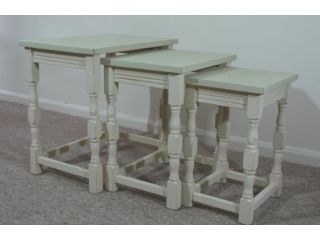 Nesting tables Old Ochre and Versailles tops