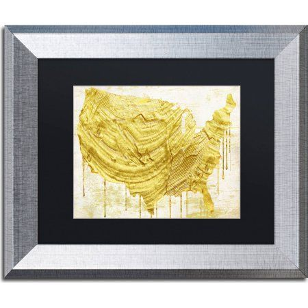Trademark fine art american dream iii canvas art by color bakery trademark fine art american dream iii canvas art by color bakery black matte silver frame size 11 x 14 gold world map gumiabroncs Images