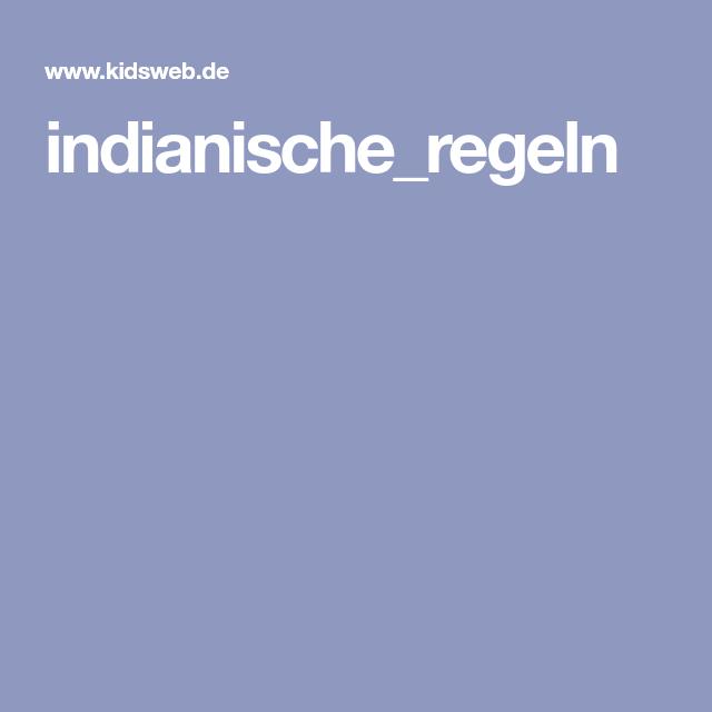 indianischeregeln  kinderseiten indianer kinder