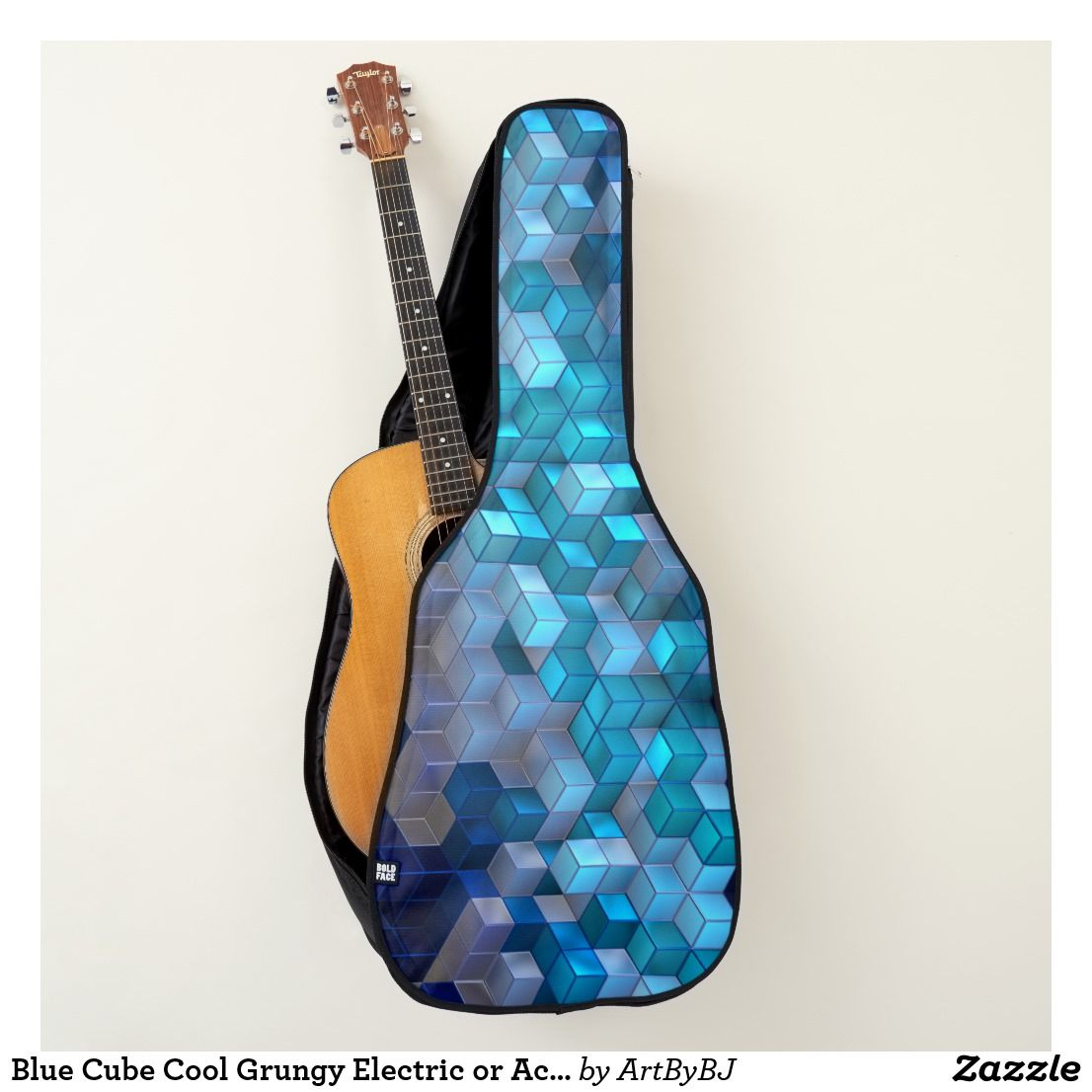 Blue Cube Cool Grungy Electric Or Acoustic Guitar Case Great New Range Of Cases For Electric Guitar Case Acoustic Guitar Case Best Acoustic Guitar