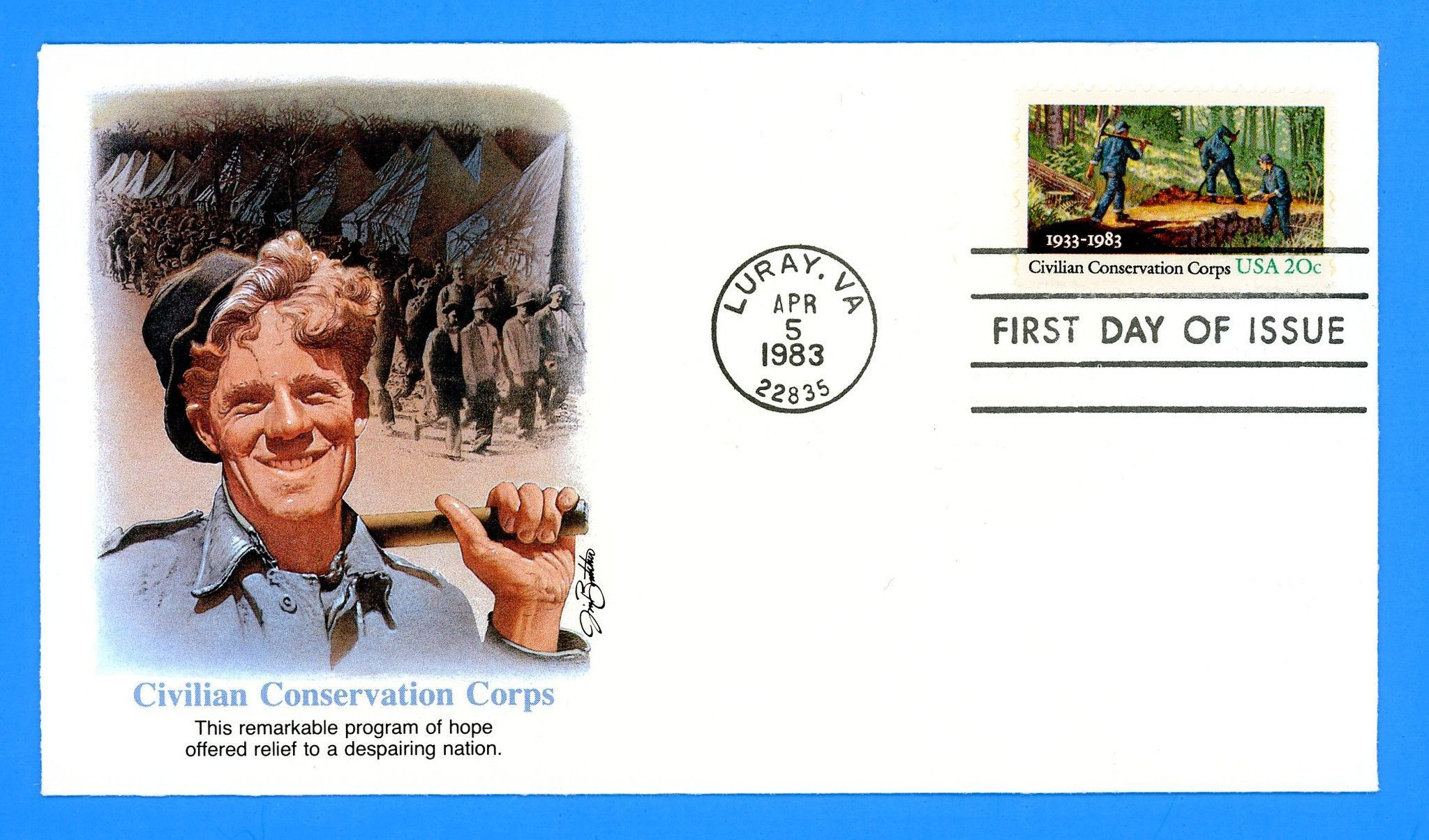 Civilian Conservation Corps First Day Cover by Fleetwood