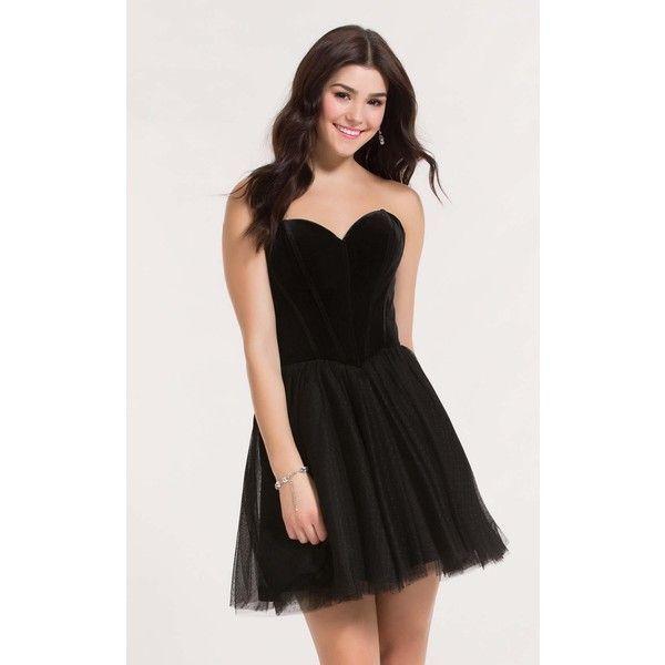 Alyce 2635 Little Black Dress Mini Strapless Sleeveless ($218 ...