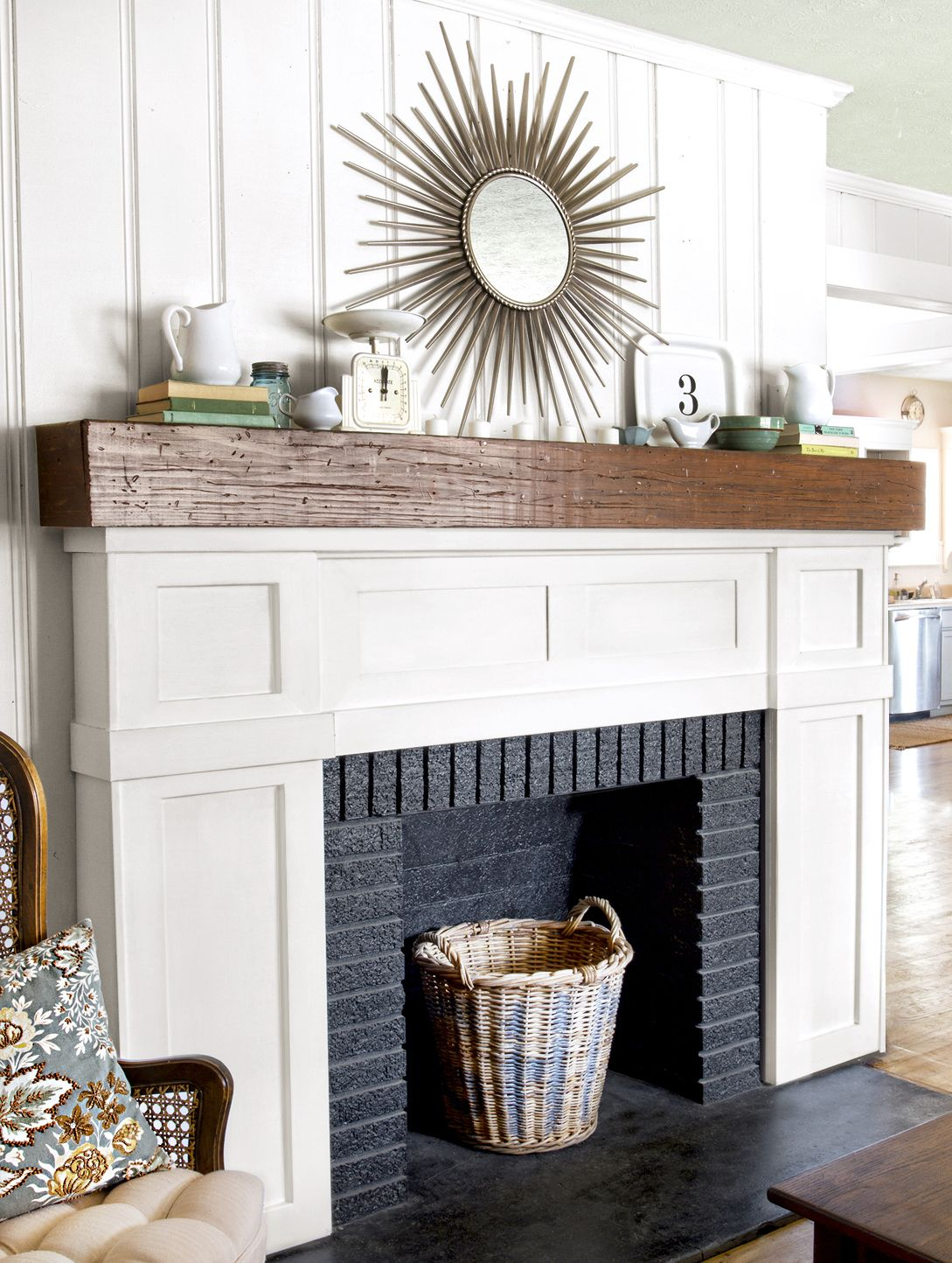 A Fireplace Face Lift For Just 87 This Old House In 2020 Fireplace Facing Painted Brick Fireplaces Fireplace Remodel